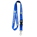 Blank Polyester Lanyard with Detachable Buckle, 5/8