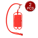 (2PCS/PACK) Officeship Cell phone Case Cover Holder Lanyard Strap Necklace With ID Card Slot