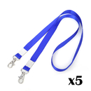 (5PCS/PACK) Officeship Flat Braid Woven Lanyard with Nickel-Plated Steel Swivel Hook Neck Strap