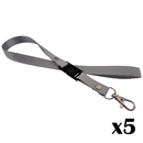 (5PCS/PACK) Officeship Detachable Neck Strap Lanyard for Cell Phone Camera USB Flash Drive ID Card Badge