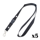 (5PCS/PACK) Officeship Durable Detachable Neck Strap/String Lanyard with Metal Swivel Hook, 18