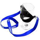 Custom Printed Wine Glass Holder Lanyard Necklace, 0.6