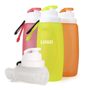 Custom 11oz Collapsible Silicone Water Bottle, 7.08
