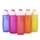 Blank 11oz Collapsible Silicone Water Bottle, Portable Folding Bottle for Outdoor