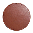 Blank Round Leather Coasters, 3-7/8