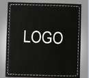 Personalized Square Leather Coasters, 3.5