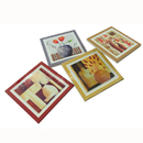 Custom Square Ceramic Coasters Set, 4