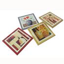 Custom Square Ceramic Coasters Set, 4