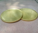Custom Round Brass Coasters, 4