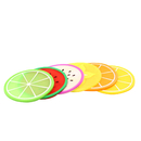 Silicone Coaster Colorful Fruit Slices, Silicone Rubber Drinking Cup Mat, Coffee Lovers Gift Worthy