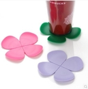 Pure Flower Clover Silicone Coaster, Drinking Cup Mat