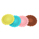 Solid Color Lace Silicone Coaster, Hollowed-Out Drinking Cup Mat