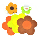 Flower Felt Coasters, Cup Mat Decoration