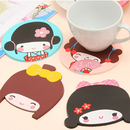 Japanese Cartoon Silicone Coasters, Afternoon Tea Party Decoration