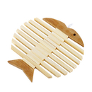 Bamboo Wood Fish Hot Mat, Table Heat Insulation Pad Mat Placemat