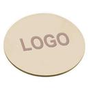 Custom Natural Leather Coaster, 3 3/4