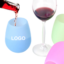 Custom Unbreakable Silicone Wine Glasses Silicone Cup, 10oz, Silkscreen