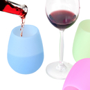 Blank Unbreakable Silicone Wine Glasses, 10oz