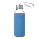 Blank Glass Water Bottle with Protective Bag, 10 oz , Long Leadtime