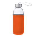 Blank Glass Water Bottle with Protective Bag, 14 oz , Long Leadtime