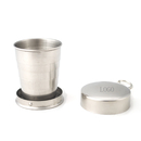 Custom Collapsible Stainless Steel Shot Glass Key Ring - 2.5oz., 2