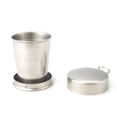 Blank Collapsible Stainless Steel Shot Glass Key Ring - 2.5oz., 2
