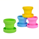 Blank 5.8oz Collapsible Folding Silicone Travel Camping Cup, 3.15