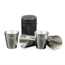 Custom Set of 4 Stainless Steel Mini Alcohol Cup for Whiskey Drink, Travel Accessories - 1 oz, Long Leadtime