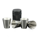 Blank Set of 4 Stainless Steel Mini Alcohol Cup for Whiskey Drink, Travel Accessories - 1 oz, Long Leadtime