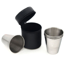 Blank 4-Pack Camping Stainless Steel Cup - 2 oz, Long Leadtime