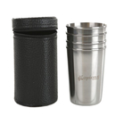 Custom 4-Piece Stainless Steel Shot Glass Set for Camping/Hiking/Outdoors - 5 oz, Long Leadtime