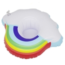 Custom Inflatable Pool Cup Holders Coasters, Rainbow Cloud Floats for Pool Party, Screen Printed