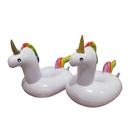 Custom Inflatable Drink Holder, Inflatable Unicorn Floating Coaster, Perfect for Pool Summer Party, Screen Printed