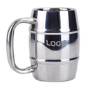 Custom 15 oz. Double Wall Stainless Steel Beer Mug, 3