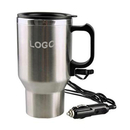 Custom Electric Heated Stainless Steel Mug, Car Coffee Cup With Charger, Laser printing