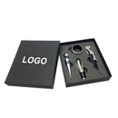 Custom Waiters Corkscrew Wine Opener Pieces Set In Gift Box, Silk Printed