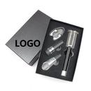 Custom Air Pressure Corkscrew Wine Opener 4 Pieces Set In Gift Box,Silk Screen Printed