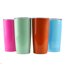 Blank 20 Oz. Stainless Steel Tumbler w/ Resistant Lid, Double Walled Insulated Travel Mug, 7