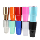 Blank 30 Oz. Stainless Steel Tumbler w/ Resistant Lid, Double Walled Insulated Travel Mug, 7.8