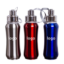 Custom 17 oz Stainless Steel Sports Water Bottle, 10 1/2
