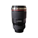 Custom 12 oz. Camera Lens Cup with Transparent Lid or Sipping Lid, Silk-printing, 5 3/10