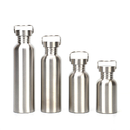 Blank Single Walled Stainless Steel Water Bottle for Cyclists, Runners, Hikers, Leak Proof Design