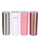 Custom 20 oz. Skinny Double Wall Stainless Steel Tumbler, Slim Bottle, Silk-printing or Laser Engrave, 8.4