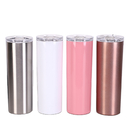 Blank 20 oz. Skinny Double Wall Stainless Steel Tumbler, Slim Bottle