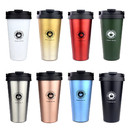 Blank 17 oz. 500ml Stainless Steel Coffee Cup Tumbler with Carry Handle, Double Walled Leak Proof Coffee Mug