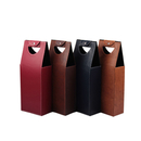 Custom PU Leatherette Double-Bottle Wine Bag, 17
