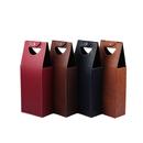 Custom PU Leatherette Double-Bottle Wine Bag, 17