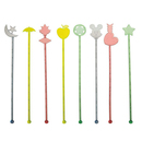 Novelty Plastic Swizzle Sticks, Cocktail Drink Markers, Many Style Available