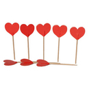 Hearts Cocktail Picks, Cupcake Toppers, Party Decoration, 20Pcs/Pack