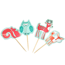 Zoo Animal Cupcake Topper Toothpicks, Cocktail Picks, Party Favor, 12Pcs/Pack